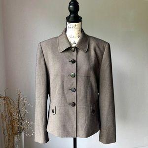 Tahari Arthur S Levine Button Up Blazer 14 EUC
